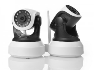 Home surveillance cameras isolated on white